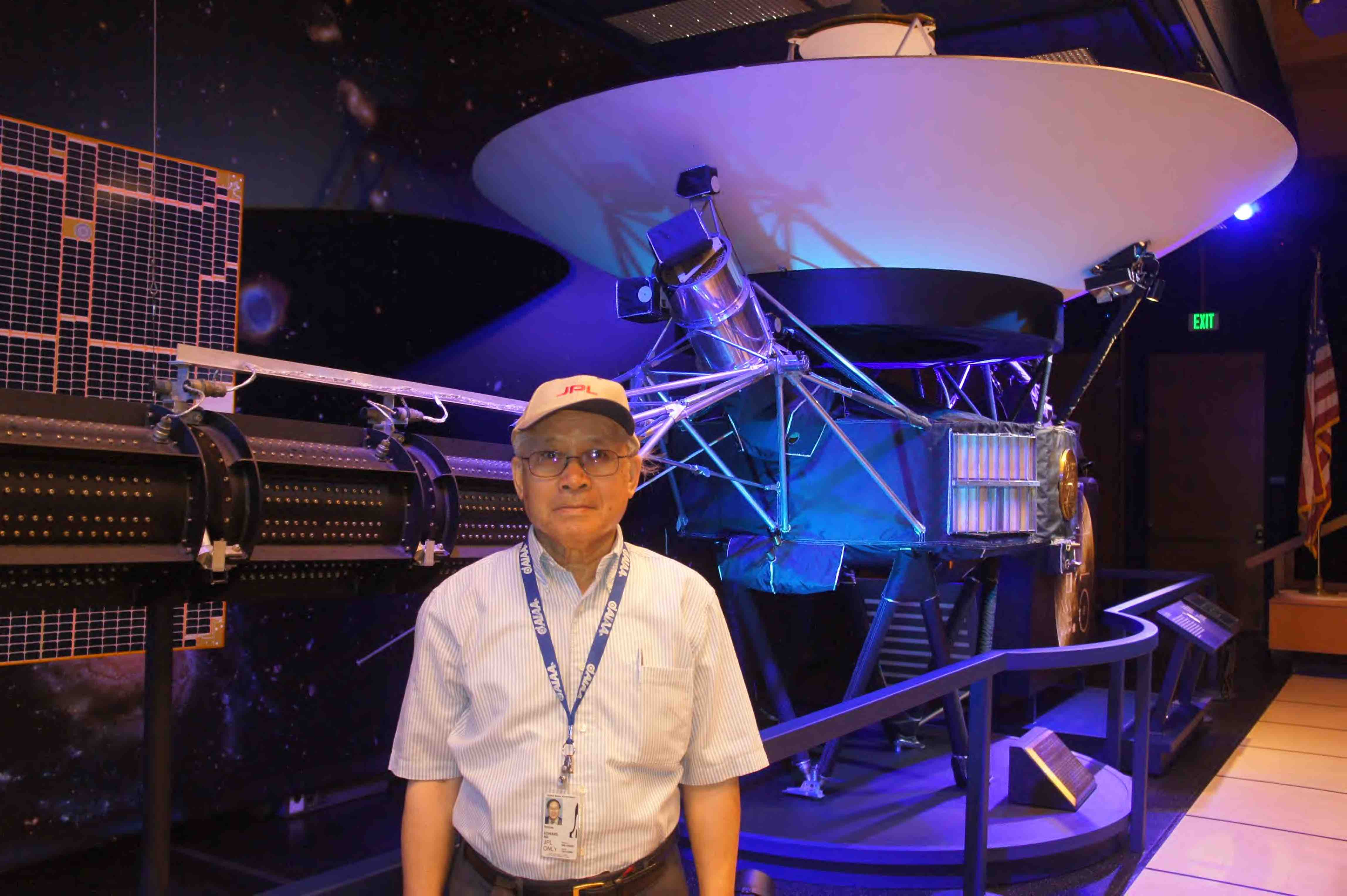 "Edward Ng in 2008, one year after retirement. Career change from ""research on outer space"" to ""spaced out""."